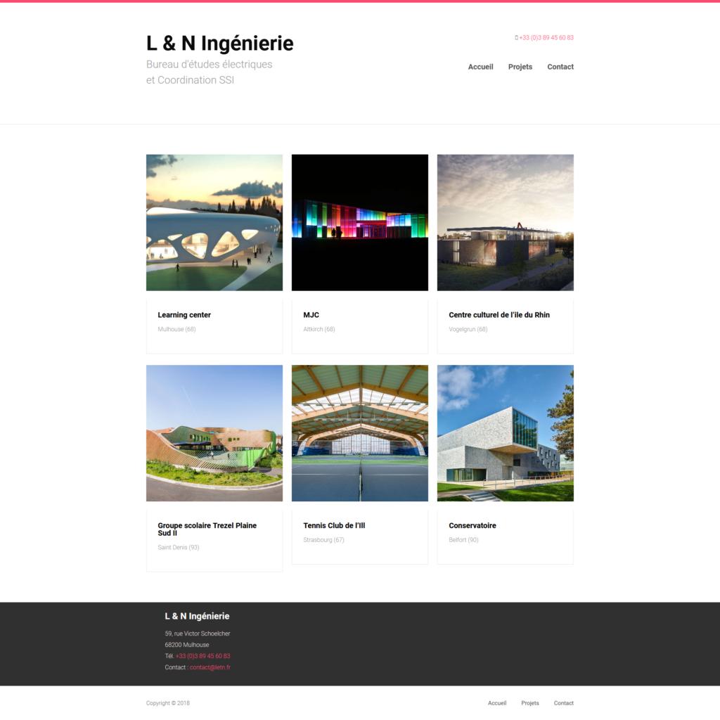 Webdesign - Sepixel - L et N Ingénierie